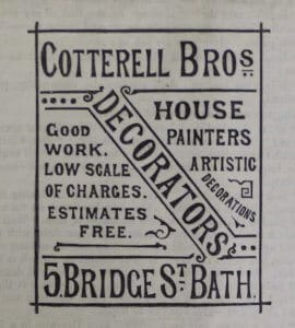 Cotterell Bros advert - Bladud, 14 December 1892