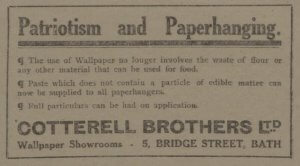 Cotterell Brothers - Bath Chronicle and Weekly Gazette - Saturday 14 July 1917