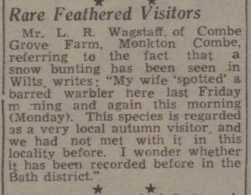 L R Wagstaff, Combe Grove farm - Bath Chronicle and Weekly Gazette - Saturday 1 December 1945