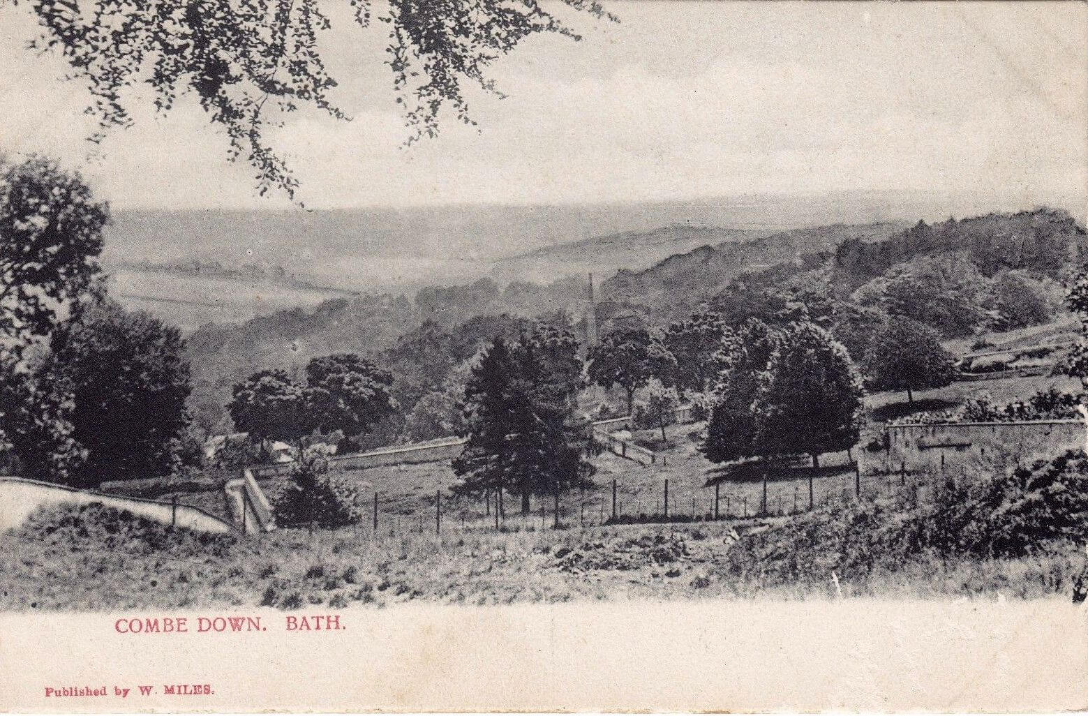 Looking South from Combe Down, early 1900s