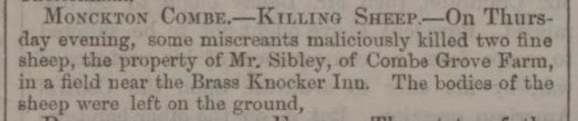Mr Sibley, Combe Grove farm - Bath Chronicle and Weekly Gazette - Thursday 19 June 1856