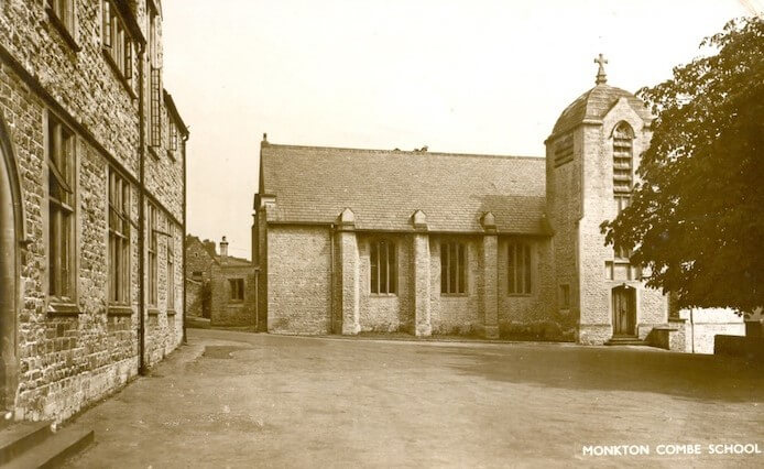 Postcard of Monkton Combe School The Chapel