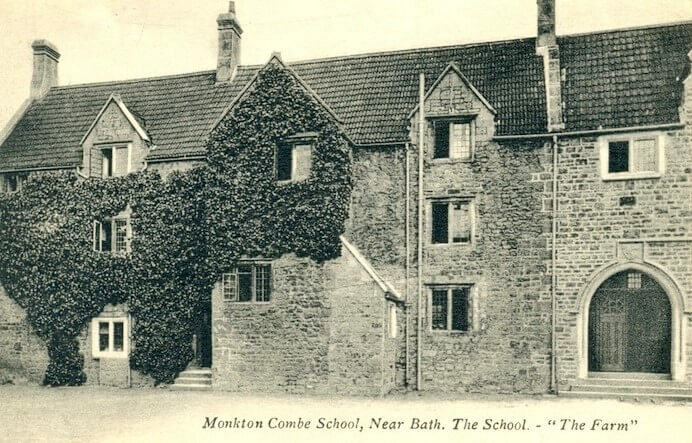 Postcard of Monkton Combe School The Farm