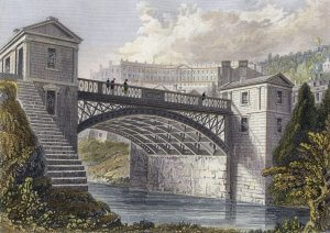 Cleveland Bridge Bath in 1830 - engraving by FP Hay