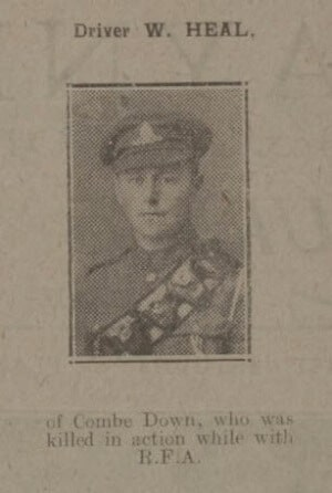 Driver W G Heal - Bath Chronicle and Weekly Gazette - Saturday 14 September 1918