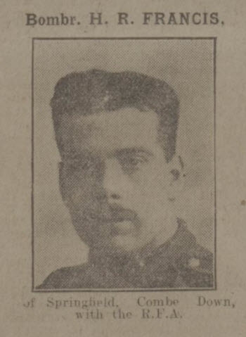 H R Francis - Bath Chronicle and Weekly Gazette - Saturday 15 April 1916