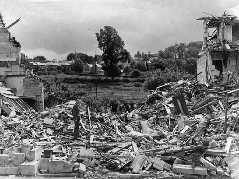 12 Bloomfield Avenue bomb damage during the Bath blitz
