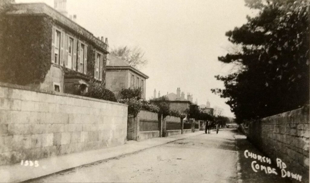 By Combe Lodge, Church Road, combe Down about 1910