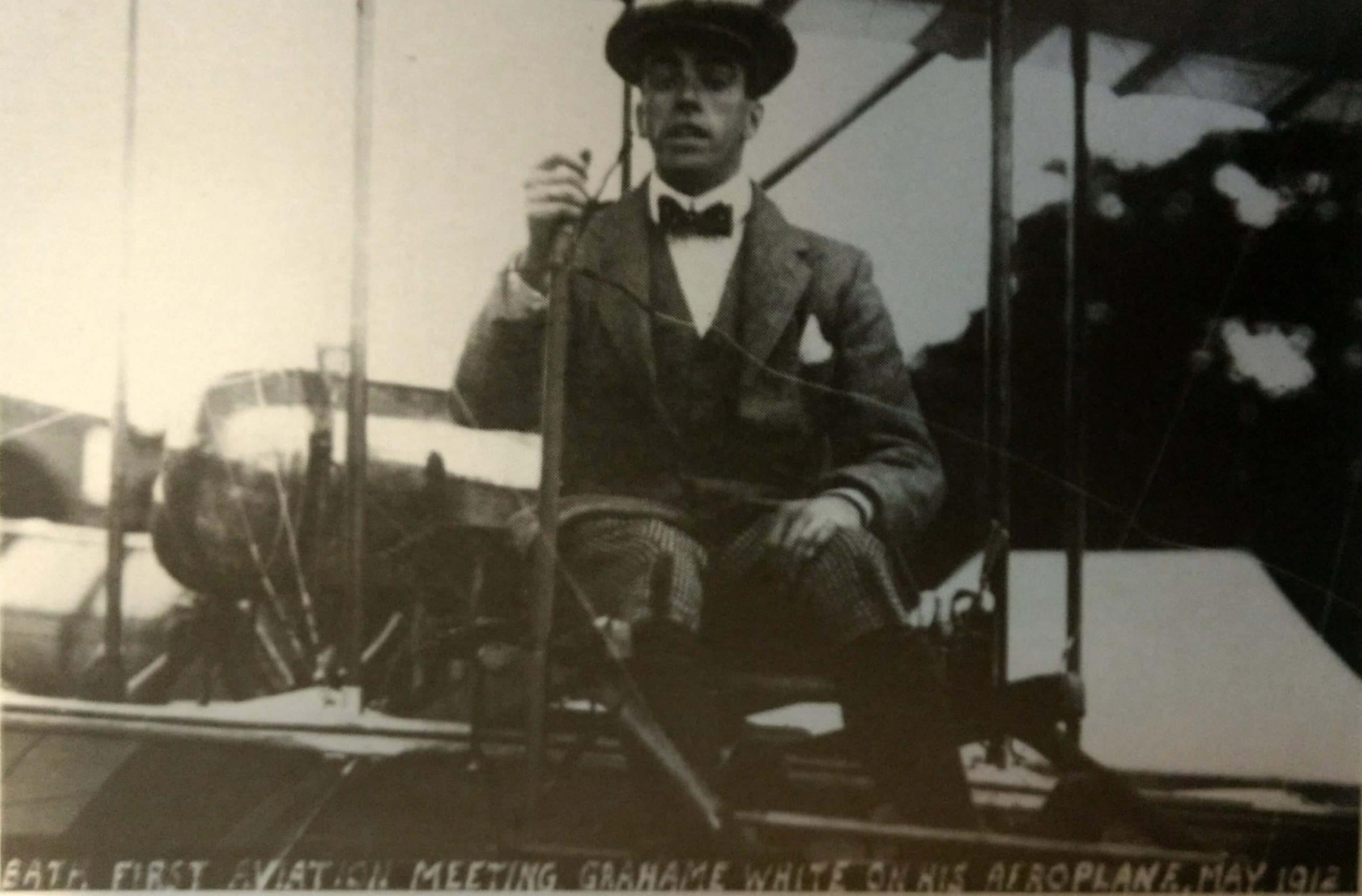 Claude Grahame-White at first Bath aviation meeting in 1912