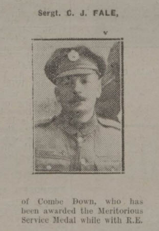 Claude John Gladstone Fale - Bath Chronicle and Weekly Gazette - Saturday 13 July 1918