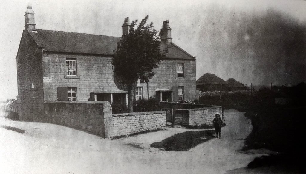 Crossway cottages, Entry Hill, Combe Down, about 1906