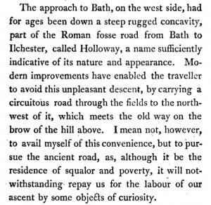 Extract from Excursions from Bath by Rev Richard Warner, 1801