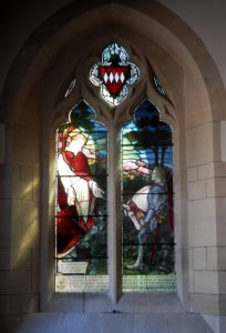 Holy Trinity church memorial window for Capt Charles John Odinel Daubeney (1895 – 1917)