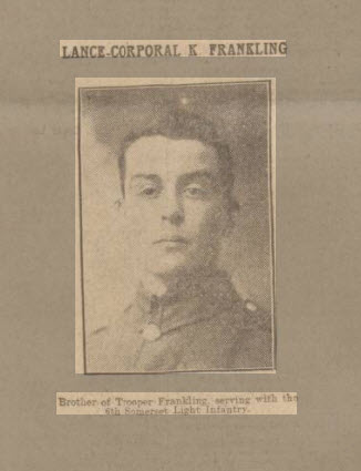 Kendrick Philip Frankling - Bath Chronicle and Weekly Gazette - Saturday 6 March 1915