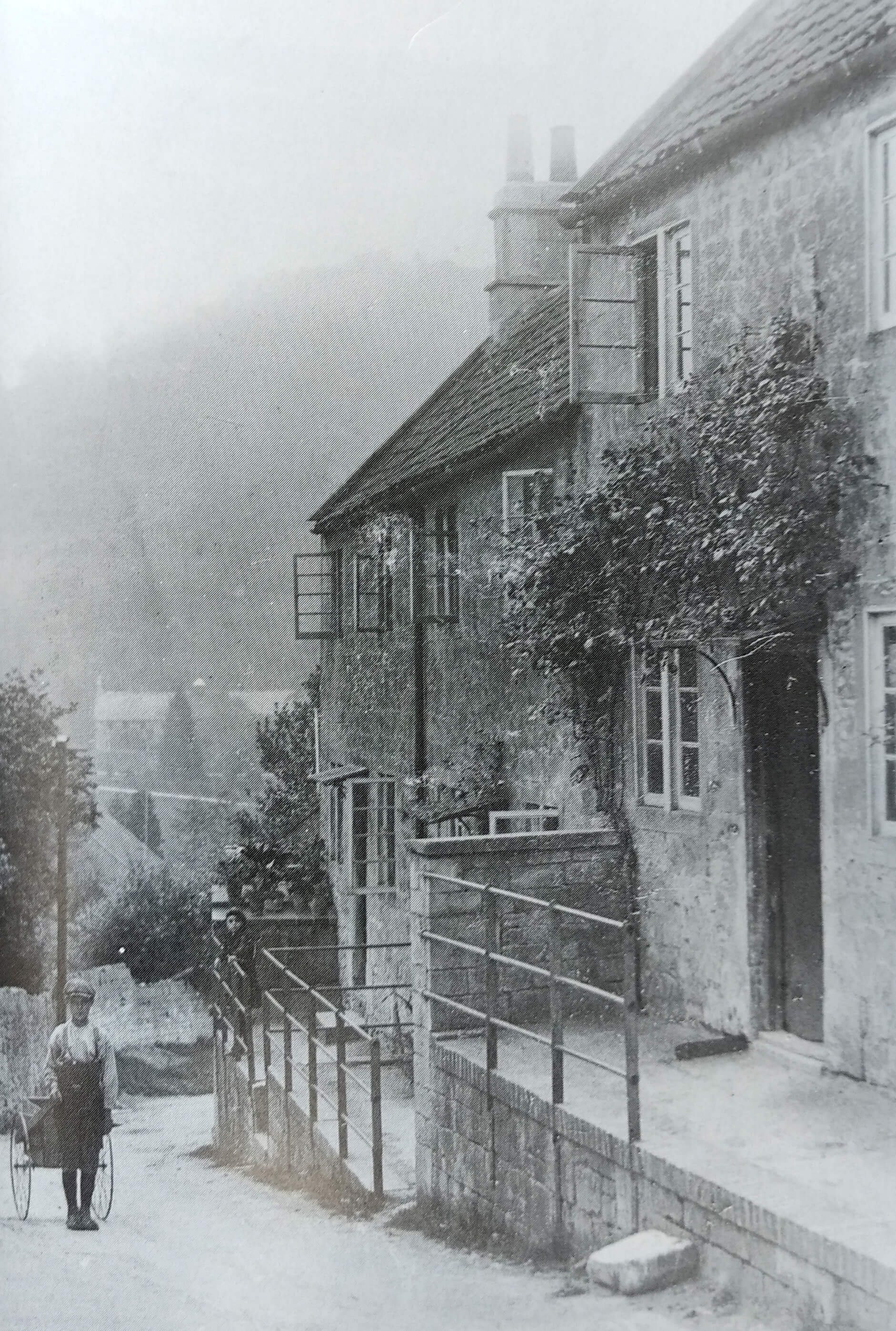 Mill Lane, Monkton Combe about 1912