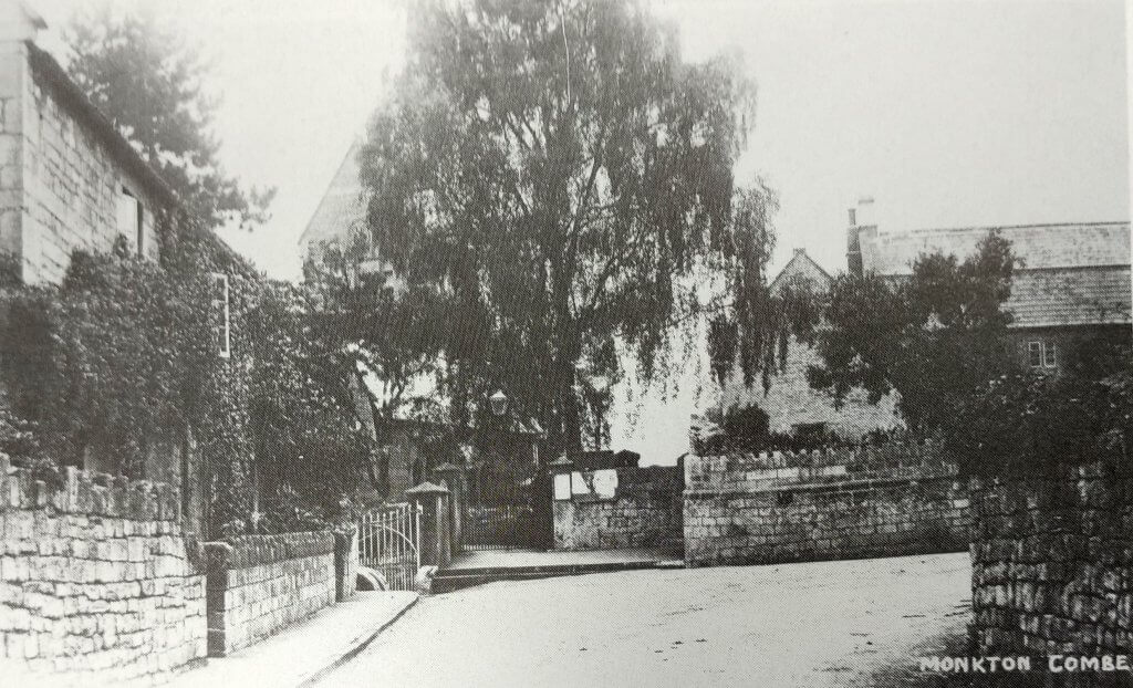 Monkton Combe by the church about 1912