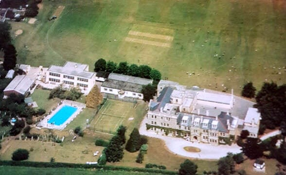 Monkton Combe junior school from the air