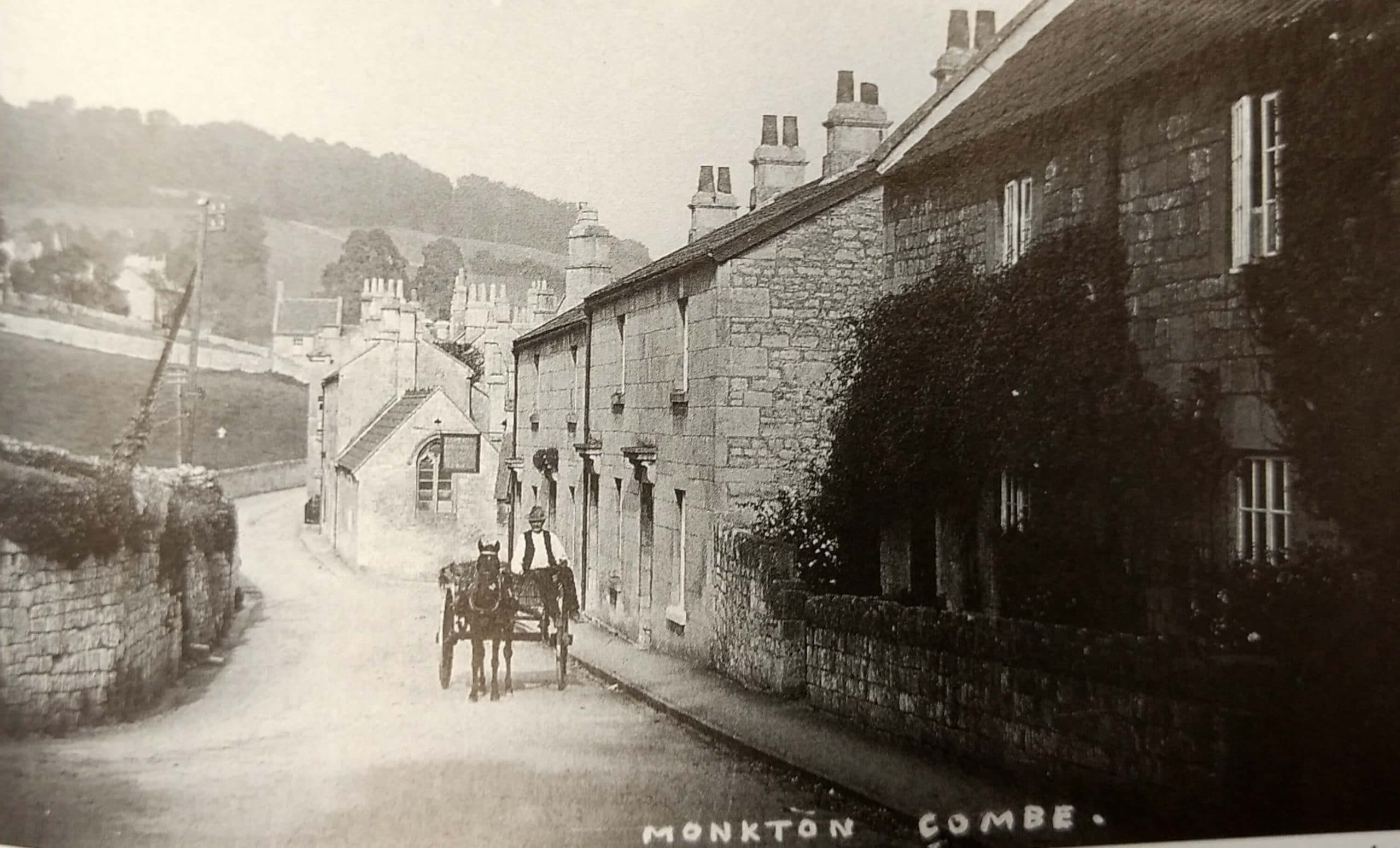 Monkton Combe looking East about 1920