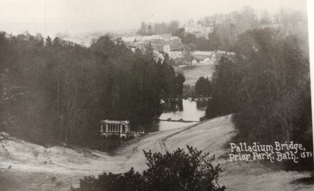 Palladian bridge at Prior Park about 1912