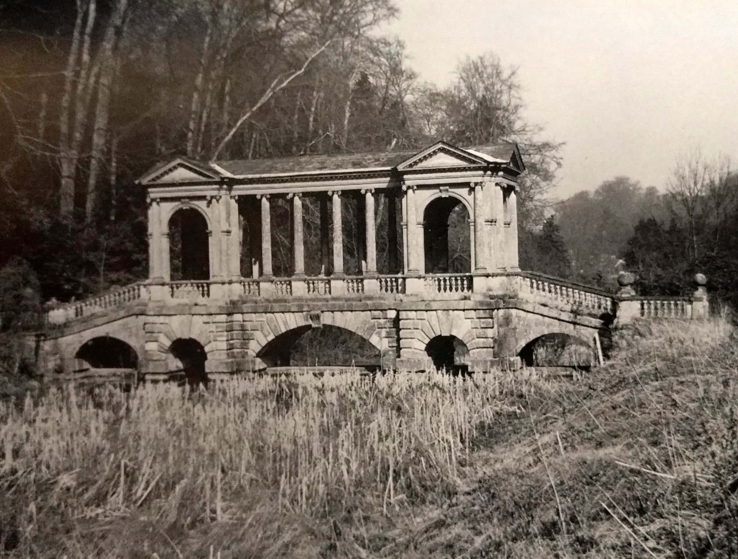 Palladian bridge at Prior Park about 1966
