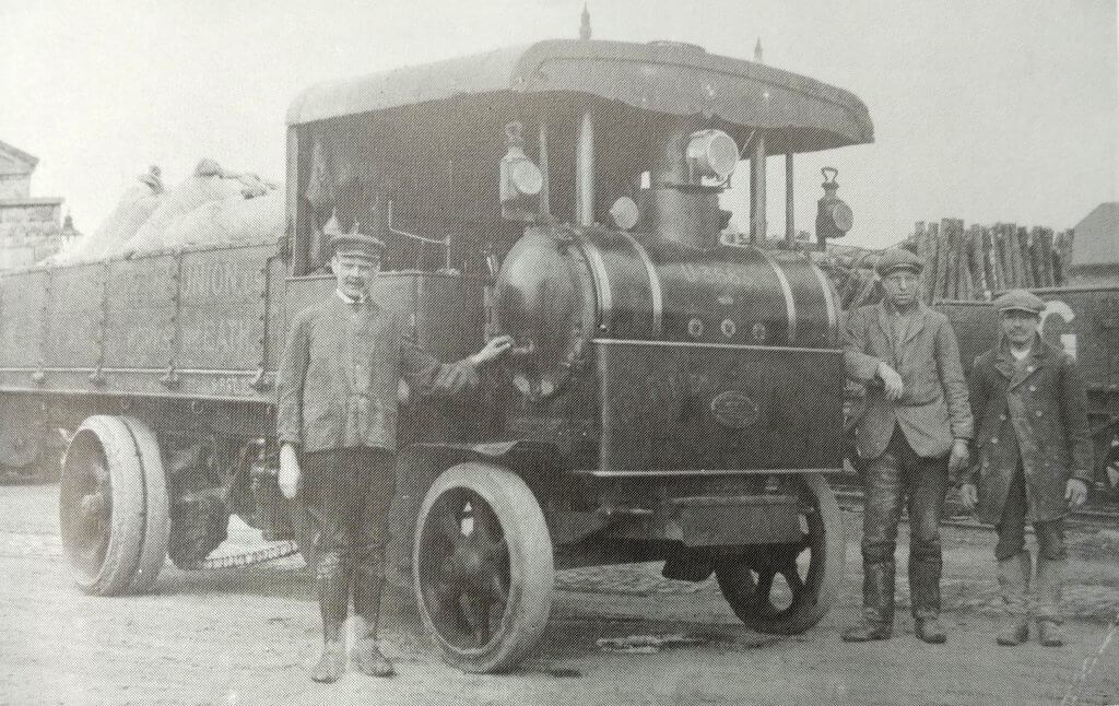 Steam delivery lorry for Fullers earth factory at Tucking mill about 1910