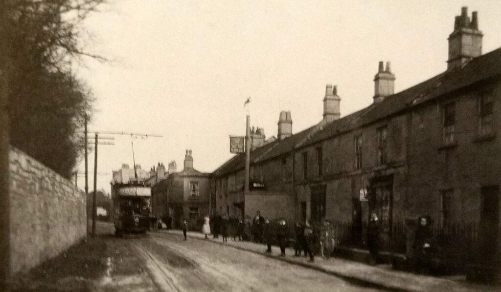 Tram on North Road, Combe Down about 1905