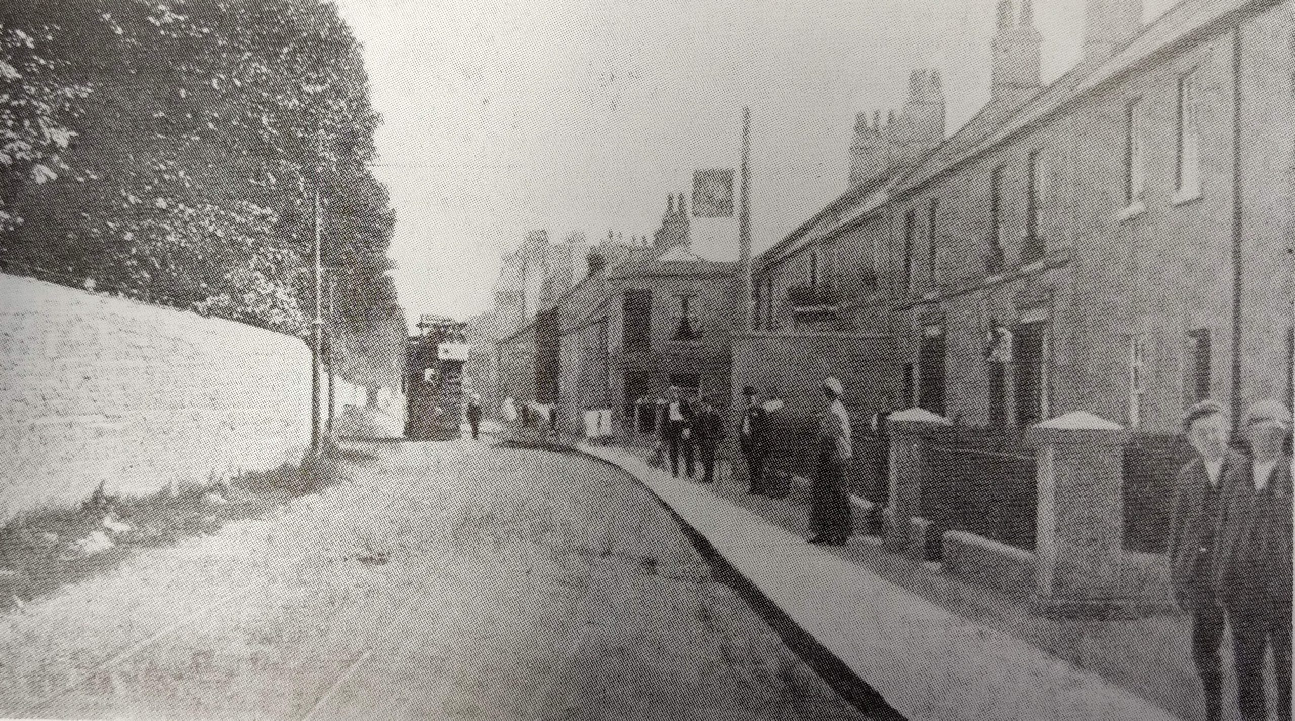 Tram on North Road, Combe Down about 1906