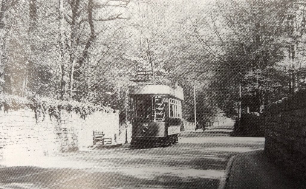 Tram on North Road, Combe Down