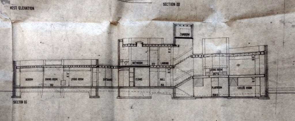 Valley Spring - detail of plan (section) submitted by Peter Womersley
