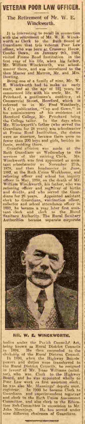 Winckworth retires - Bath Chronicle and Weekly Gazette - Saturday 2 June 1928