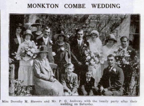 Andrews - Stevens wedding - Bath Chronicle and Weekly Gazette - Saturday 22 August 1925