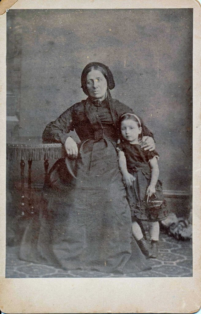 Annie Caroline Fisher (1867 - 1938) born on Combe Down and her mother Mary Hibberd (1838 - 1902)