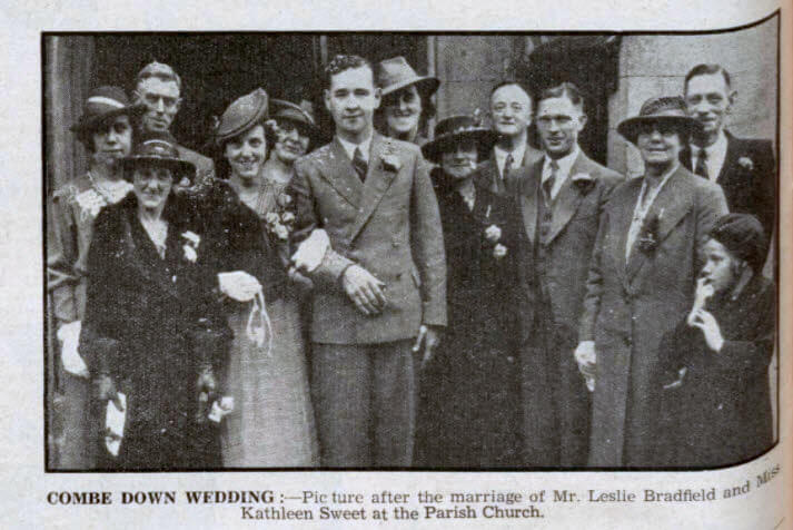Bradfield - Sweet wedding - Bath Chronicle and Weekly Gazette - Saturday 11 November 1939