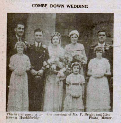 Bright - Hucklebridge wedding - Bath Chronicle and Weekly Gazette - Saturday 6 January 1934
