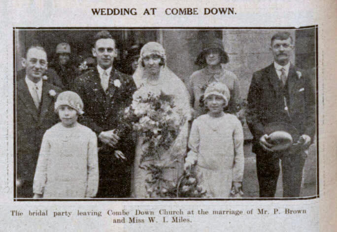 Brown - Miles wedding - Bath Chronicle and Weekly Gazette - Saturday 9 November 1929