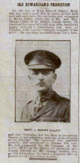 Capt L Moore Lilley - Bath Chronicle and Weekly Gazette - Saturday 6 May 1916