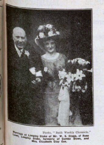 Clapp - Coe wedding - Bath Chronicle and Weekly Gazette - Saturday 5 April 1913