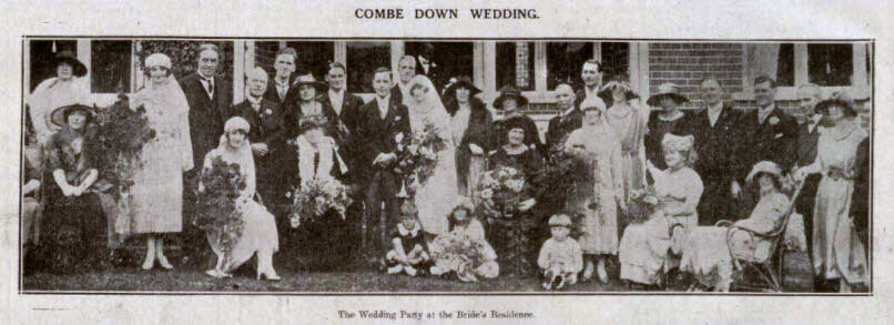 Combe Down wedding - Bath Chronicle and Weekly Gazette - Saturday 1 October 1921