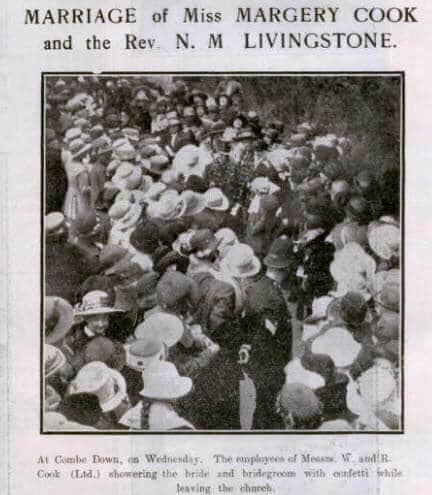 Cook - Livingstone wedding - Bath Chronicle and Weekly Gazette - Saturday 21 October 1922