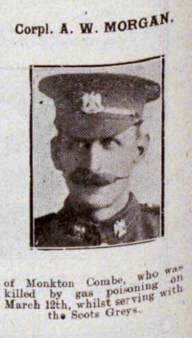 Corporal A W Morgan - Bath Chronicle and Weekly Gazette - Saturday 7 April 1917