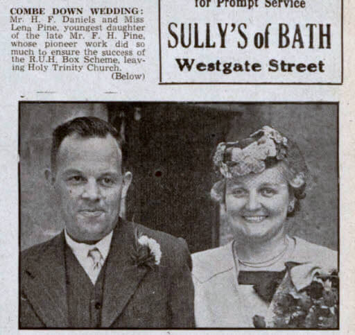 Daniels - Pine wedding - Bath Chronicle and Weekly Gazette - Saturday 18 August 1945