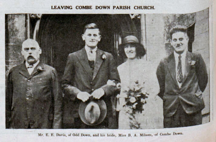 Davis - Milsom wedding - Bath Chronicle and Weekly Gazette - Saturday 24 October 1931