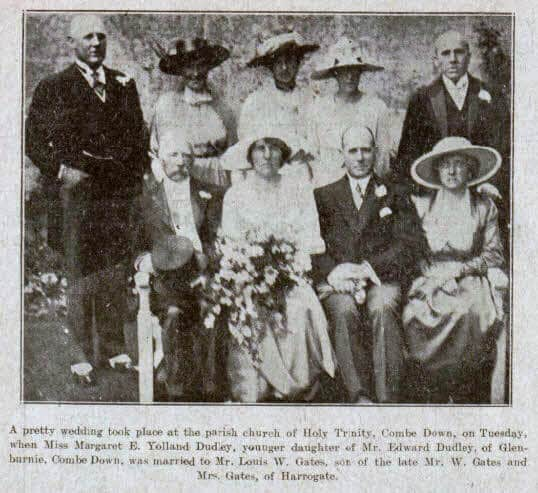 Dudley & Gates wedding - Bath Chronicle and Weekly Gazette - Saturday 26 June 1920