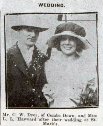 Dyer - Hayward wedding - Bath Chronicle and Weekly Gazette - Saturday 28 November 1925