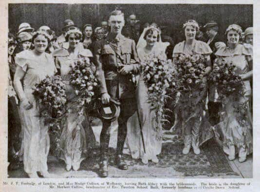 Feehally - Collins wedding - Bath Chronicle and Weekly Gazette - Saturday 7 September 1935