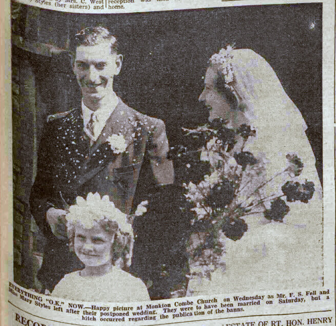 Fell - Styles wedding - Bath Chronicle and Weekly Gazette - Saturday 6 August 1938