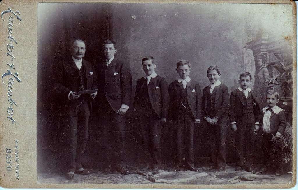 Francis Henry Milsom with his sons