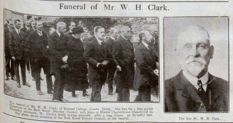 Funeral of Mr W H Clark - Bath Chronicle and Weekly Gazette - Saturday 12 August 1922