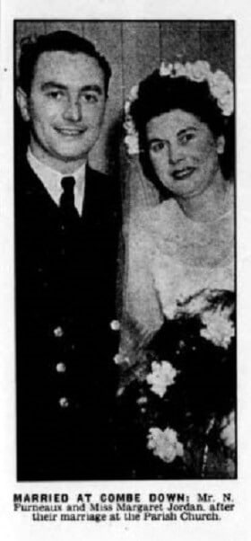 Furneaux - Jordan wedding - Bath Chronicle and Weekly Gazette - Saturday 30 December 1950