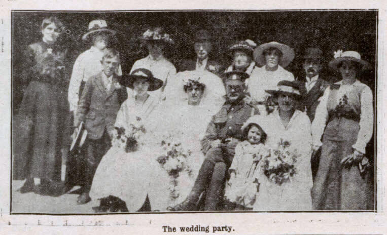 Gregory - Evill wedding at Combe Down - Bath Chronicle and Weekly Gazette - Saturday 30 June 1917